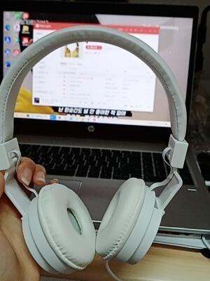 頭戴式耳機重低音炮線控有線適用於手機平板筆記本臺式電腦通用可愛女帶麥克風吃雞學生耳