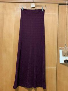 紫色平口長洋裝(不是長裙哦)
