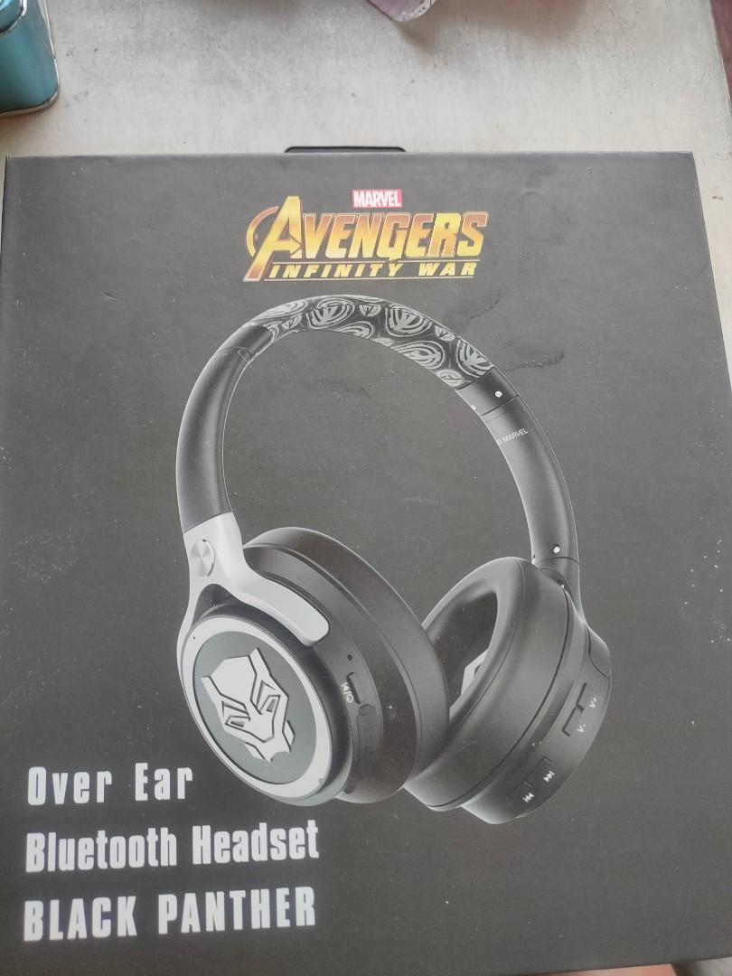正版漫威黑豹耳罩式藍芽耳機