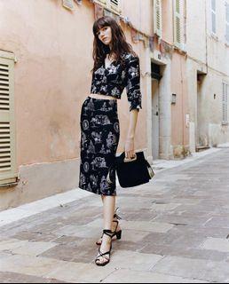 全新 巴黎市景手繪鉛筆裙