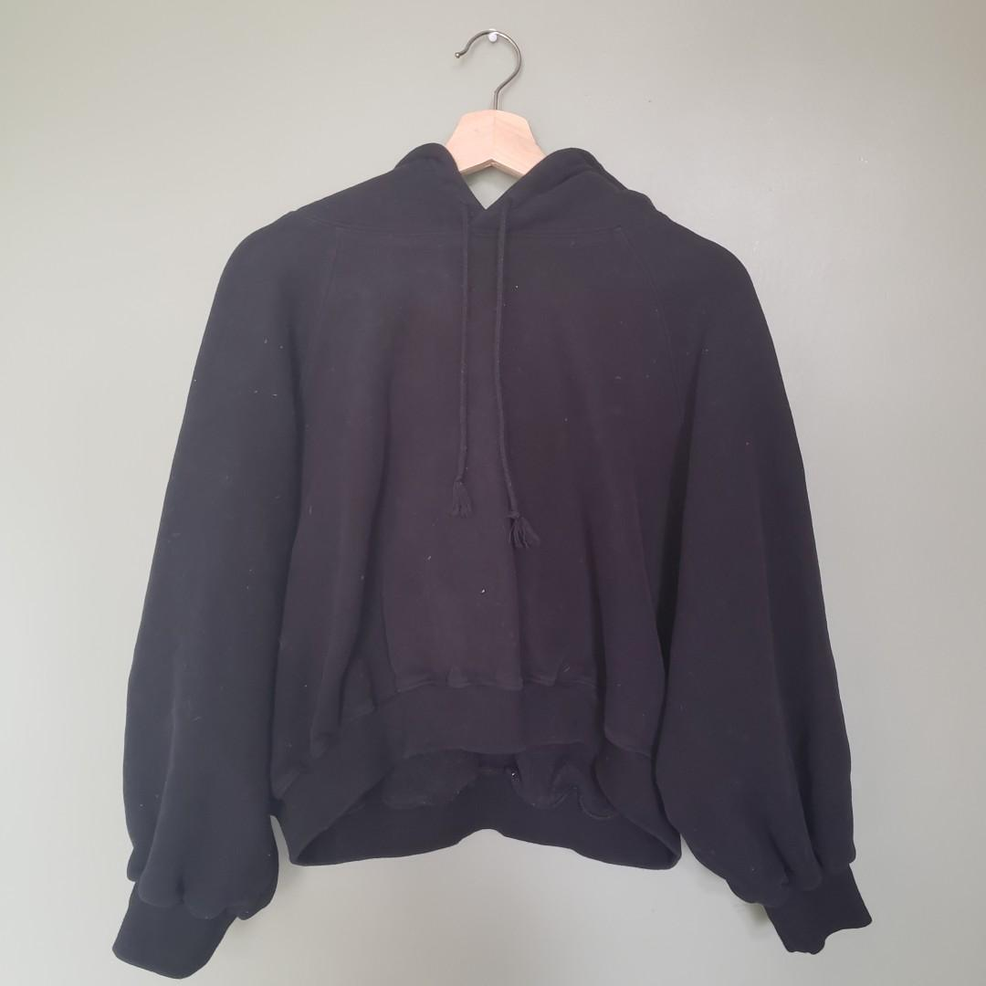 Black Winter Hoodie with extra warm lining