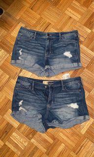 Blue Denim Hollister Shorts Bundle
