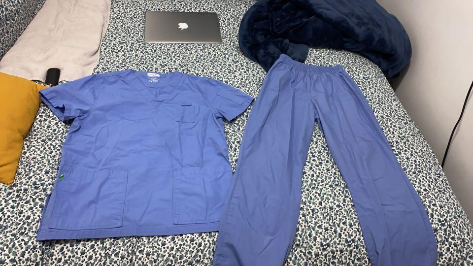 Ceil blue medical scrubs