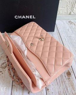 Sales - Chanel classic flag 25 light pink Champagne gold chain