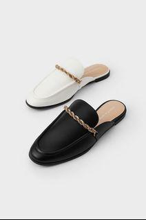 Charles&Keith - 179 Chain Slip On Mules