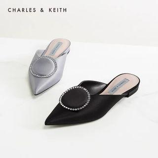 Charles&Keith - Satin Ringshoes Mules