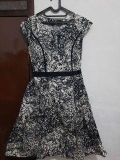 Dress Hitam Putih Kece