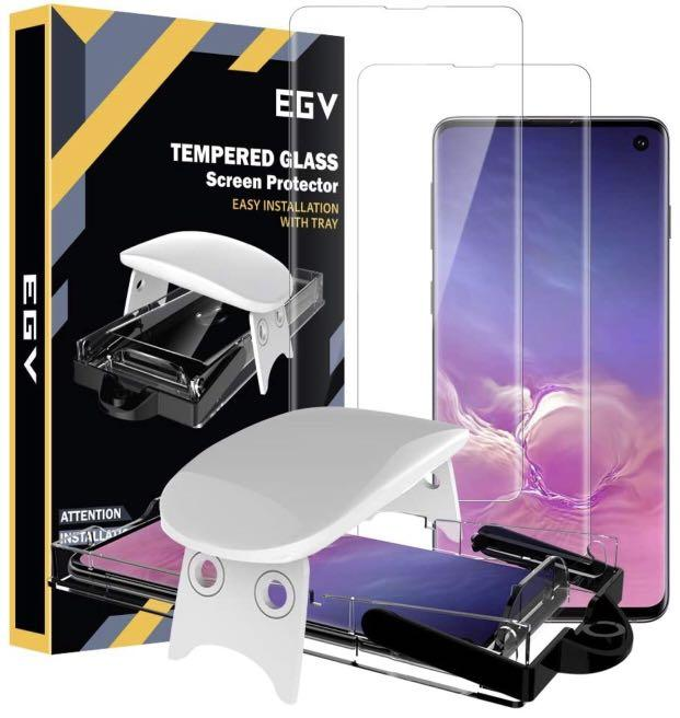 EGV [2 Pack] Screen Protector for Samsung Galaxy S10