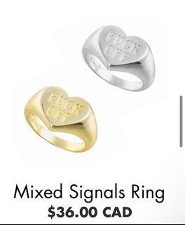"""""""F*ck off"""" Gold Ring"""