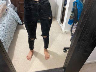 Garage black ripped denim jeans