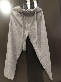 Grey ankle pants celana baggy