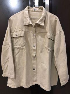 Korean Denim jacket parka outer kemeja sweater