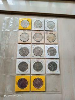 Malaysia  $1  Ringgit Commemorative 14 pcs