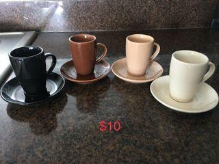 New bia cordon bleu espresso cups and saucers set of 4