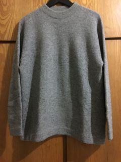 Steven alan 灰色短高領毛衣 m號 日本製