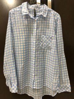 Stradivarius plaid shirt kemeja blouse kotak kotak