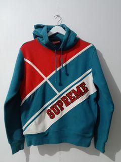 Supreme diagonal hooded