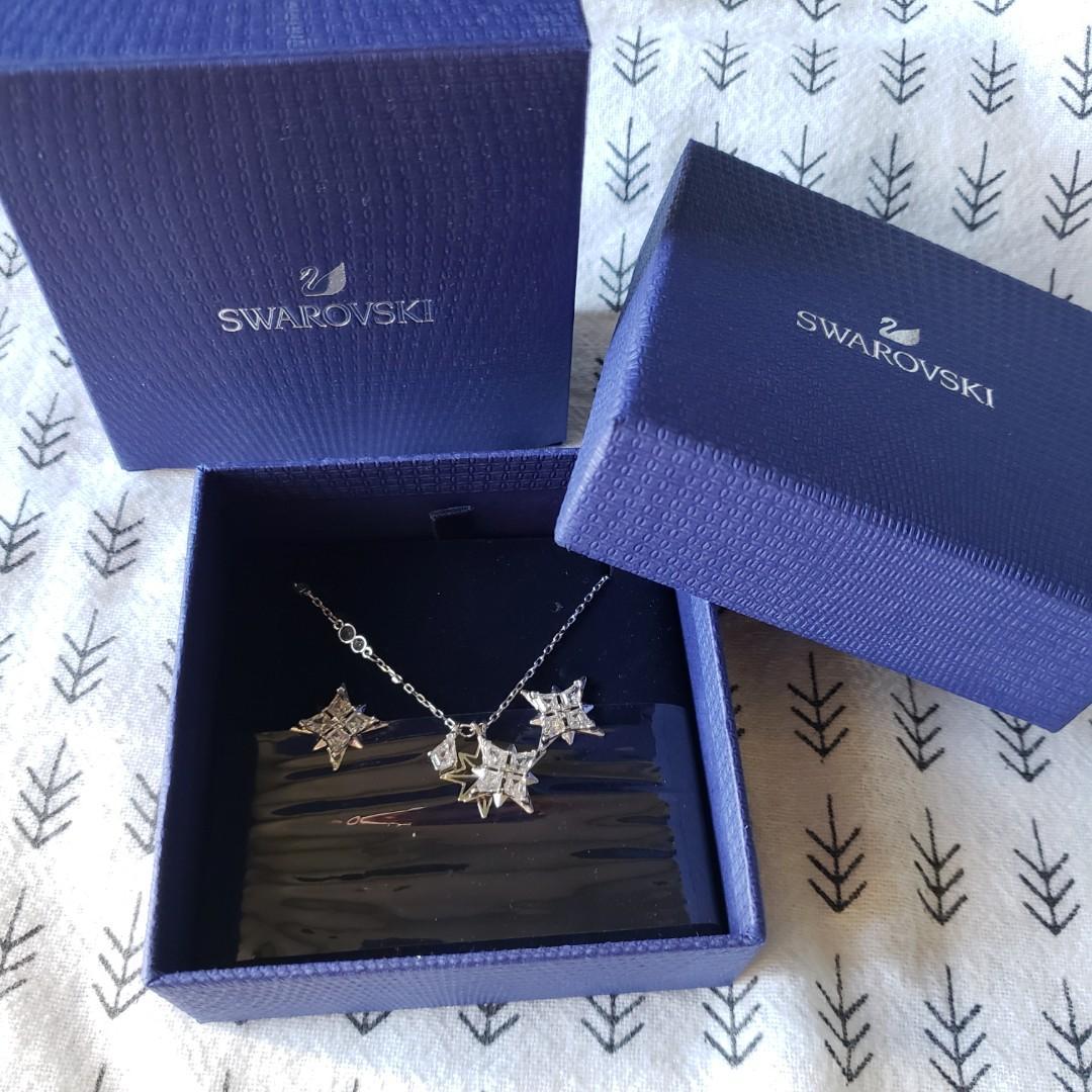 Swarovski silver star set