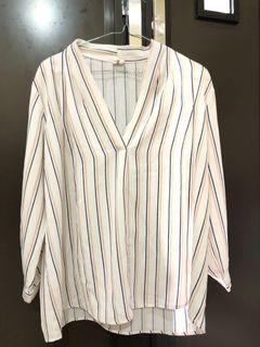 This is april blouse stripe shirt kemeja