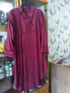 tunic maroon