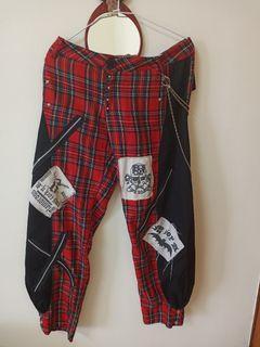 Vintage格子燈籠褲