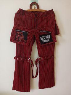 Vintage直條褲