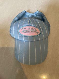 Von dutch cap vondutch hat topi von dutch pink biru blue y2k hat