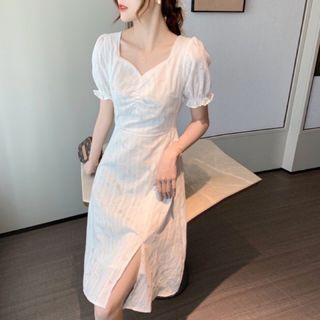 Dress Putih White Import Midi