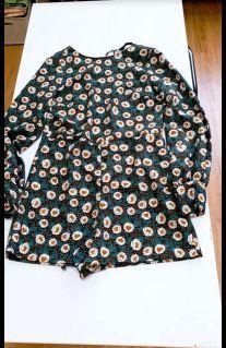 降價降價❤️全新❤️ZARA-小花朵質感連身褲#防疫