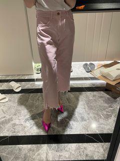全新zara粉紅色牛仔褲