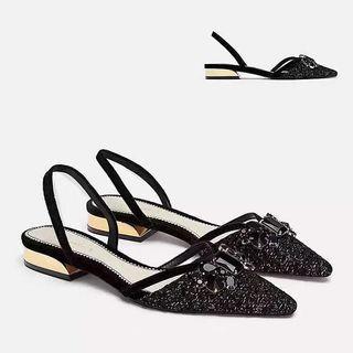 Zara - Black Classy flat