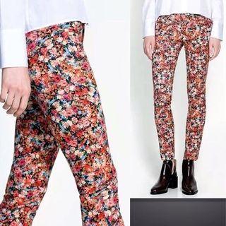 Zara Woman Foral Tights Pants