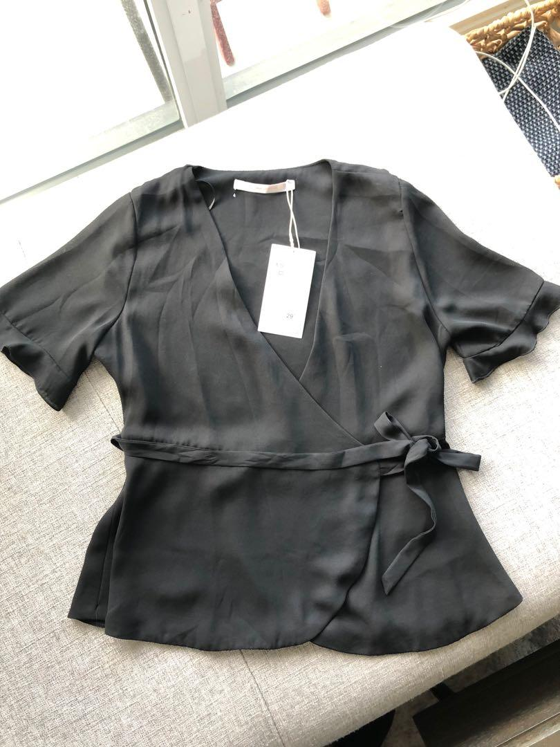 NEW Zara wrap shirt blous