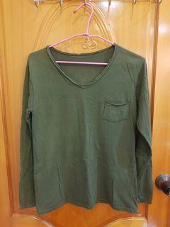 原價400元 女款胸前口袋滾邊棉質上衣 適合M~L台灣製造 已經洗淨