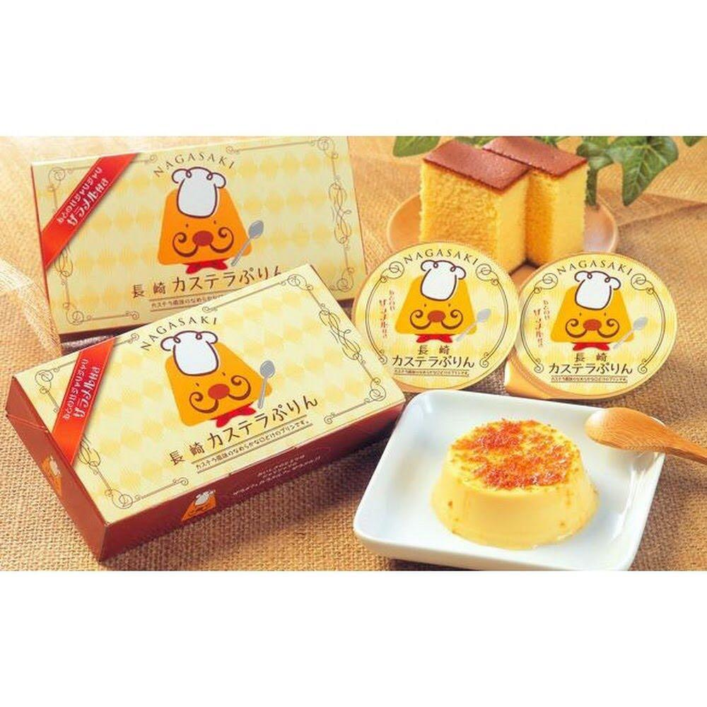 一盒兩個日本長崎布丁焦糖原味, 嘢食& 嘢飲, 包裝食品- Carousell