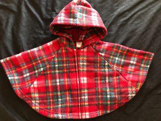 嬰兒 幼兒 兒童 拉鍊連帽斗篷披風外套