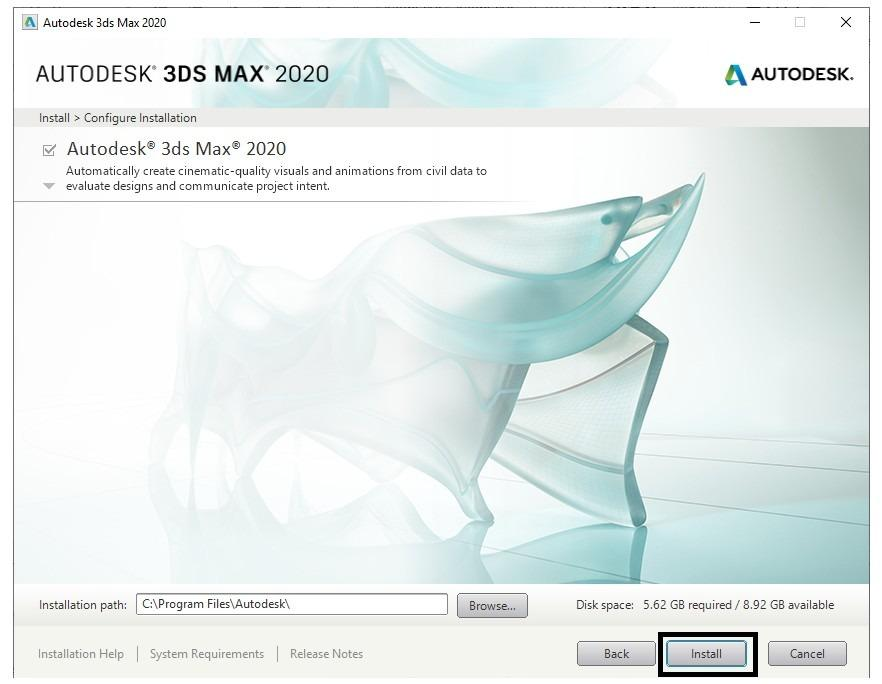 Autodesk 3DS Max 2020 1 Year Windows Software License