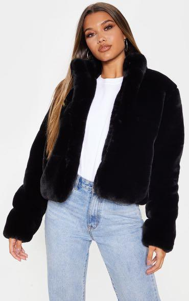 Brand new faux fur jacket with tags