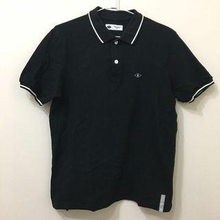 Caco Navy polo 衫 黑 短袖 縮口