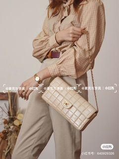 Chanel 溫柔奶茶色 腋下包 冰格包