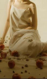 Cream editors market spag longs maxi dress