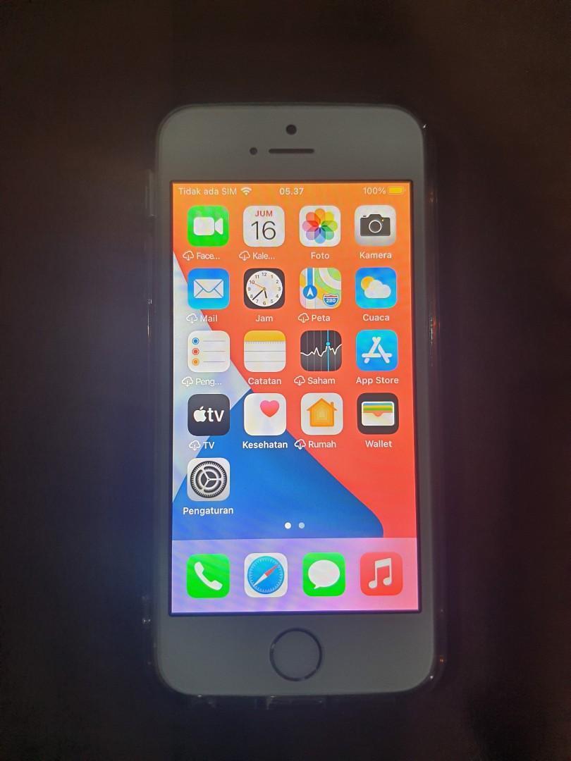 Dijual Cepat iPhone SE 2016 Gen 1  16 Gb White Preloved.