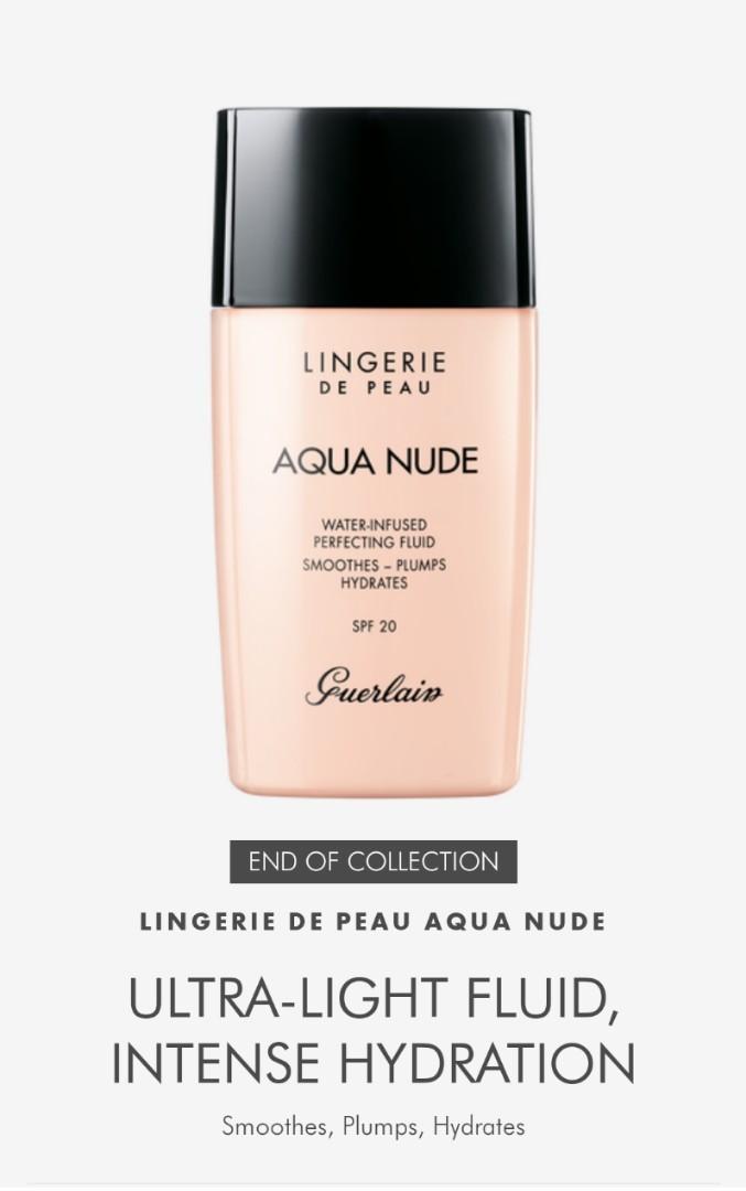 Guerlain Lingerie De Peau Aqua Nude Foundation , N00, Procelaine