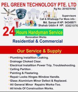 Handyman Plumbing & Electrical and painting & repair service