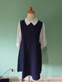 Korea Mini Dress Navy