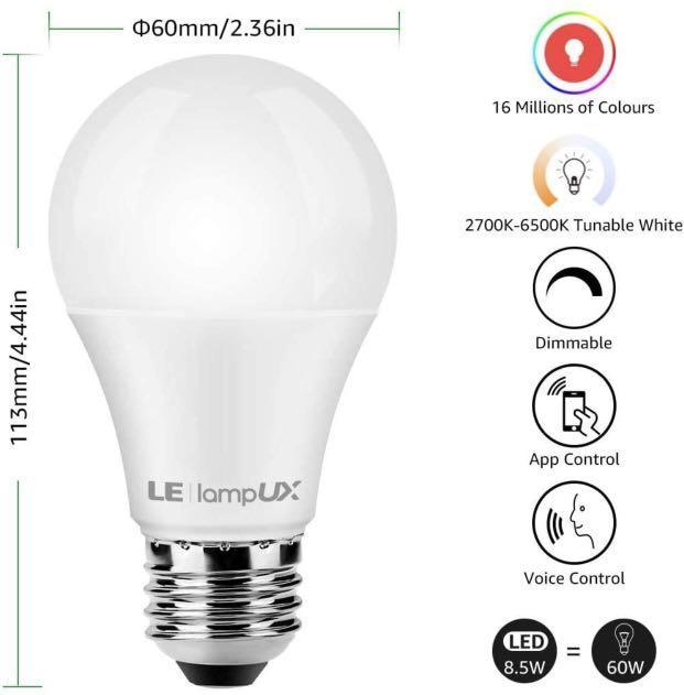 LE Lighting WiFi Smart LED Bulb