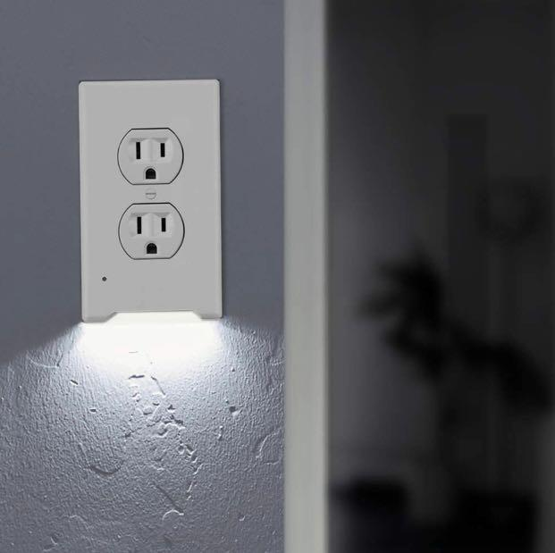 LED Night Light Outlet Cover Plates