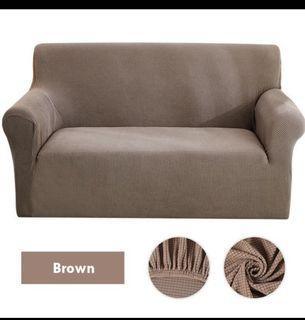 🌻LOVE SEAT SOFA COVER BROWN