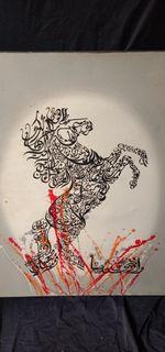Lukisan Kuda Kaligrafi Arab