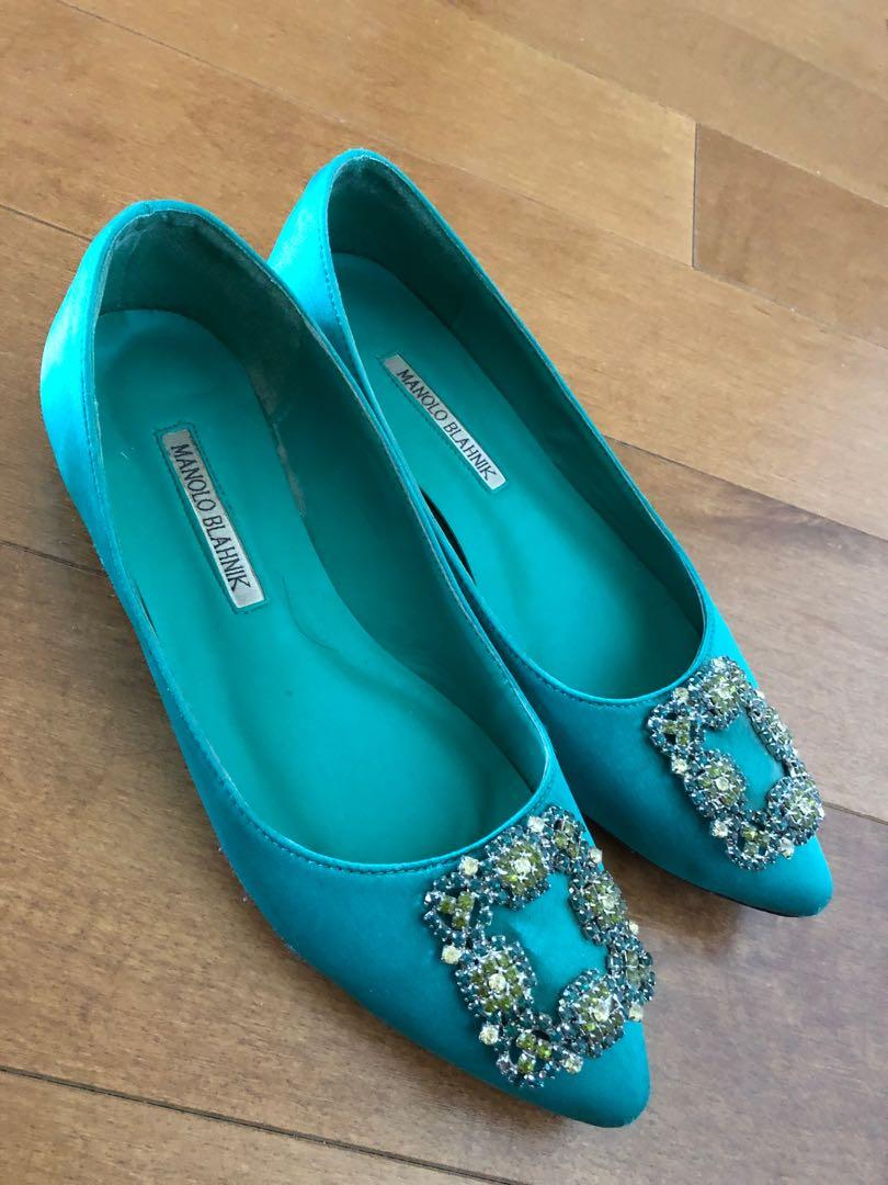 Manolo Blahnik Satin Shoe size 7.5